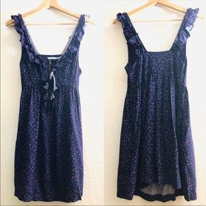 Kimchi Blue blue and pink floral print dress Small